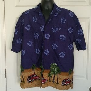 Vintage Hawaiian Shirt By Basix